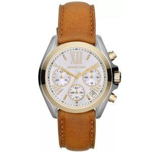 Brown Women's Two-tone Bradshaw Mini Mk2301 Watch